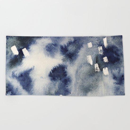 Ocean light || watercolor Beach Towel