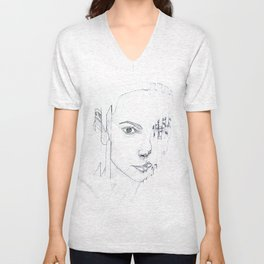 GLITCHING OUT Unisex V-Neck
