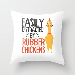 Rubber Chicken  Enthusiast Loud Scream Yellow Throw Pillow