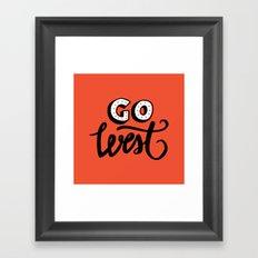Go West Framed Art Print