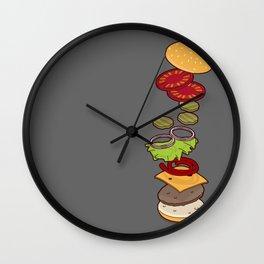 cheeseburger exploded Wall Clock