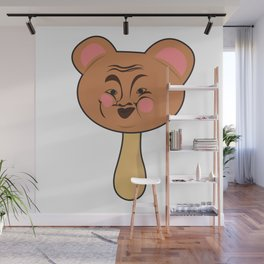 Popsicle Icecream Sweets Animal Bear Face laughing Funny Kids Gift idea Wall Mural