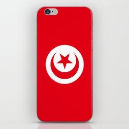 flag of tunisia -tunisie, tunisian,tunis,Maghreb. iPhone Skin