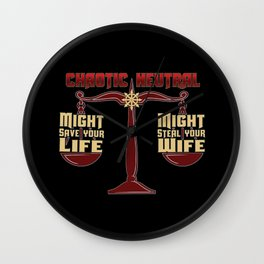 D&D - Chaotic Neutral Wall Clock