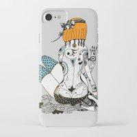 redhead iPhone & iPod Cases featuring Redhead by Zinaida Kazantseva