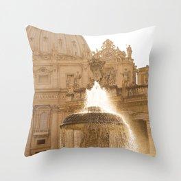 Bernini's Fountain Throw Pillow