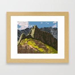 Machu Pichu Framed Art Print