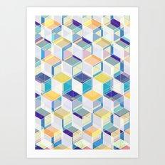 Cube Geometric VII Art Print