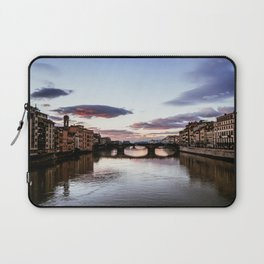 Sunset over the Arno river.  Laptop Sleeve