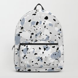 Shades of Grey Modern Terrazzo Pattern Backpack