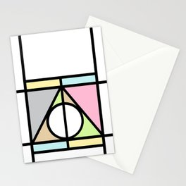 Geometric Deathly Hallow Stationery Cards