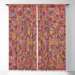 Music is Love V painting of love song Blackout Curtain