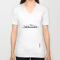ferrari V-neck T-shirts featuring Ferrari 312P by Remove Before . . .