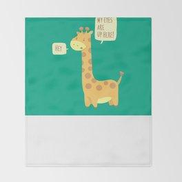 Giraffe problems! Throw Blanket