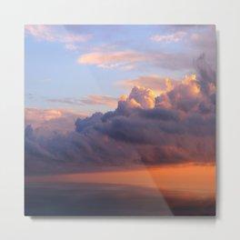 Cote d'Azur Evening Sky Metal Print