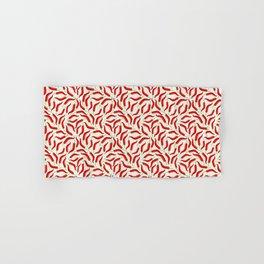 Hot red chili pepper pattern Hand & Bath Towel