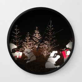Polar Bear Christmas Wall Clock