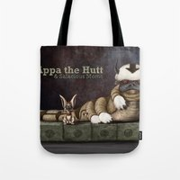 appa Tote Bags featuring Appa the Hutt and Salacious Momo by Cliff Roth