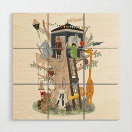 little playhouse Wood Wall Art