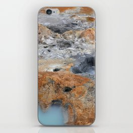 Boiling Mud Pots. iPhone Skin