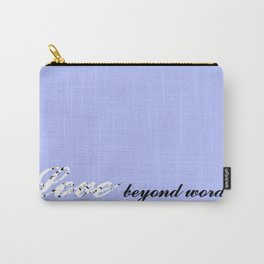 Love Beyond Words (Light Blue) Carry-All Pouch
