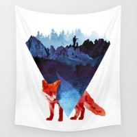 road Wall Tapestries featuring Risky road by Robert Farkas