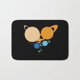 Solar System Heart (to scale) Bath Mat