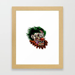 zombie evil clown Framed Art Print