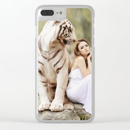 White Tiger from Bengal | Tigre blanc du Bengale Clear iPhone Case