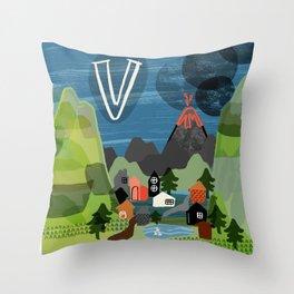 """""""V"""" Throw Pillow"""