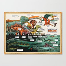 BEHOLD! THE DINOSAURS!  Canvas Print