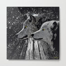 WOLF ENCOUNTER #2 Metal Print