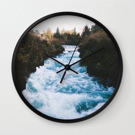 Huka Falls Wall Clock