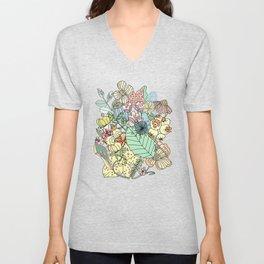 Nature Bloom Pattern Unisex V-Neck