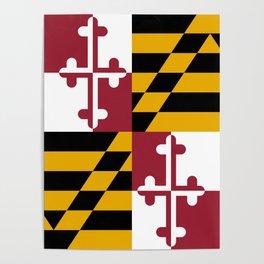 Maryland State Flag, Hi Def image Poster