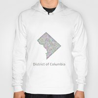 dc Hoodies featuring DC map by David Zydd