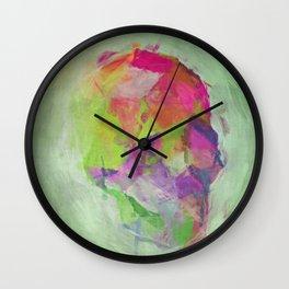 Neon Skull Painting Print Wall Clock