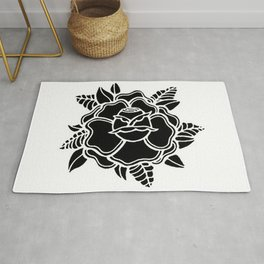 black rose/grow yourself Rug