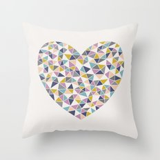 Faceted Heart Throw Pillow