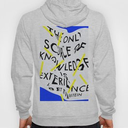 The only source of knowledge is experience. Albert Einstein Hoody
