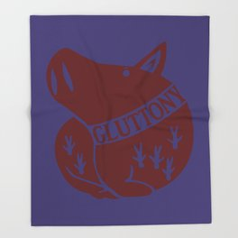 The Boar's Sin of Gluttony Throw Blanket