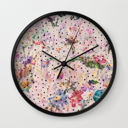 Floral Oasis Wall Clock