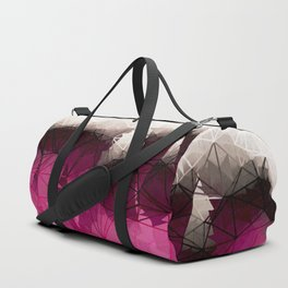 Modern Wine Geometrical Pattern Abstract Duffle Bag