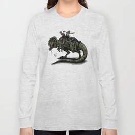 Zombies Riding a Trex Long Sleeve T-shirt