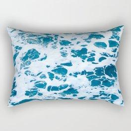 oscean marble - photograohy light blue Rectangular Pillow
