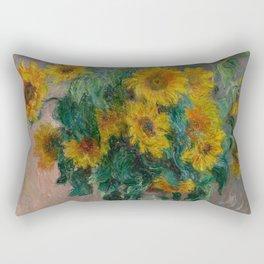Claude Monet - Bouquet of Sunflowers (1881) Rectangular Pillow