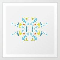 Geometrics: Snowflake V2 Art Print