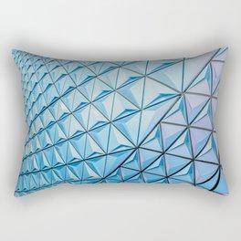 Light Blue Geometric Pattern Rectangular Pillow