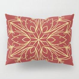 Golden Snowflake Pillow Sham
