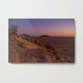 Namibia at Dusk Metal Print